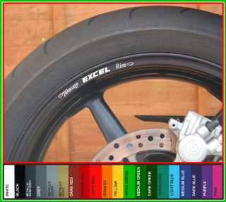 Takasago Excel Rim Wheel Rim Decals Stickers