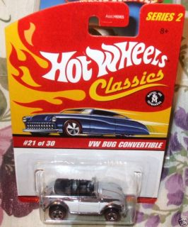 2005 HOT WHEELS CLASSICS 21 30 RED LINE CLUB EXCLUSIVE WHITE CHROME VW