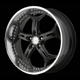 HE834 5x4 5 18x8 Integra Mustang Black Wheels Rims Free Lugs