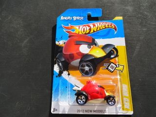 Hot Wheels 2012 New Model Angry Birds Red Bird