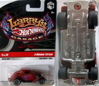 Hot Wheels 3 Window  34 Ford Larrys Garage Chase