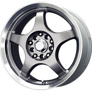16 MB Motoring Wheels Rims 5x100 5x114 3 Acura TL Ford Mustang Honda