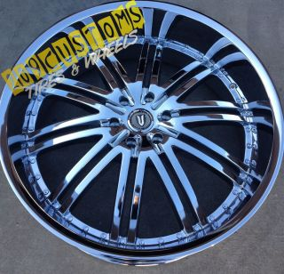 22 INCH VERSANTE RIMS WHEELS TIRES VW212 CHROME MUSTANG 2005 2006 2007
