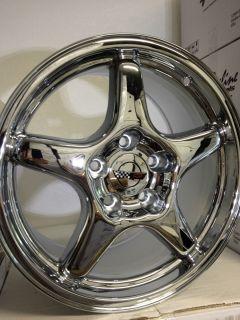 Chrome Chevrolet Corvette C4 ZR1 Factory OE Replica Wheels Rims 17x9 5