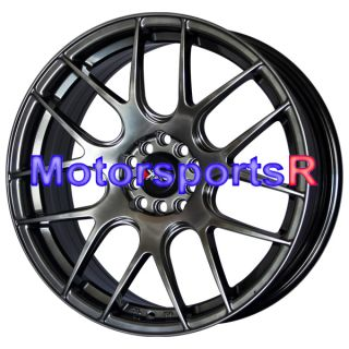 530 Chromium Black Concave Wheels Rims 5x100 5x4 5 5x114 3 ET 38 Honda