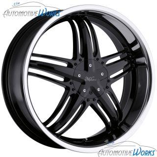 Milanni Force 5x100 5x114.3 5x4.5 +38mm Black Wheels Rims Inch 18
