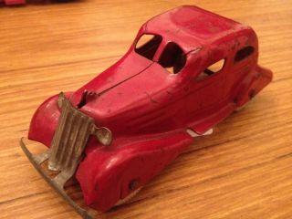 Wyandotte 1935 36 Streamlined Sedan 316 white wheels pressed steel car