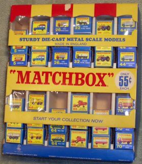 LESNEY MATCHBOX REGULAR WHEELS 55C STORE DISPLAY 36 MODELS STORE STOCK