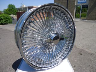 Chrome 20x8 Wire Wheels Full Set Rims New Front Wheel Drive