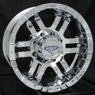 17 inch Chrome Wheels Rims Chevy HD Dodge RAM H2 8 Lug