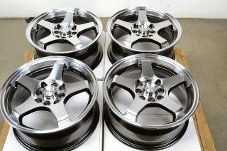 Black Wheels Yaris Civic Integra Aveo Sentra Insight 4 Lug Rims