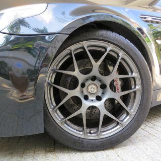 HRE Monoblock P40 Charcoal Grey Wheels Rims Michelin Pilot PS2 Tires
