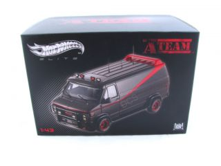 Ho Wheels Elie A eam GMC Classic Van 1 43 V Series Black Grey