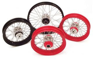 Paughco 40 Spoke Wheels Custom Rear Wheel Red 16x5 5