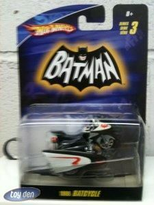 Batman 1 50 Scale 1966 TV Series Batcycle by Hot Wheels