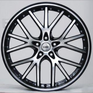 20 Luxe LX 40 Wheels Stagger Rims Lexus G35 BMW Mustang Lexus Corvette