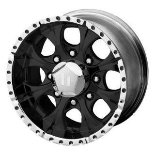 16 inch black HELO Wheels 8 Lug Rims Chevy 2500 Suburban Dodge GMC