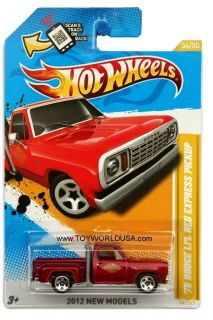 2012 Hot Wheels New Models 34 1978 Dodge LiL Red Express Pickup