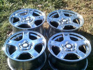 Corvette C5 Factory 17 18 Wheels Chrome Alloy Mag 5 Star Rims