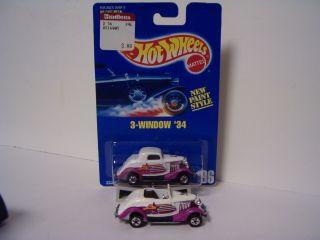Hot Wheels 2 White Purple 3 Window 34 Ford Package 196 Custom