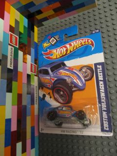 Hot Wheels Custom VW Volkswagen Beetle HW Racing 12 Diecast Car 6 10