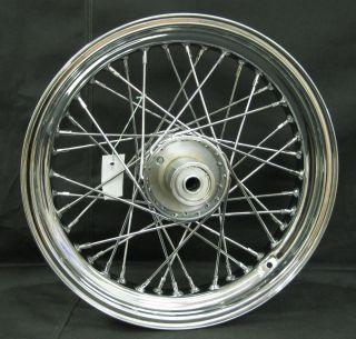 Chrome Ultima 40 Spoke Front 16x3 5 Wheel for Harley FL Single Disc