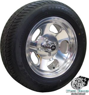 RACING ANSEN SPRINT SLOTTED 4 LUG WHEELS TIRES FORD MUSTANG 1965