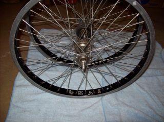 School 36 Hole 20x1 75 inch BMX Freestyle Rims Wheels Wheelset