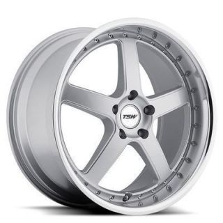 TSW Carthage 20x8 5 5x114 3 40 Silver w Mirror Lip Wheels Rims