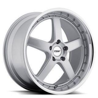 TSW Carthage 20x8 5 5x114 3 40 Silver w Mirror Lip Wheels Rims
