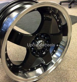 4x114 3 Black Wheels Sentra Altima Cabrio Golf Scion Jetta 4 Lug Rims