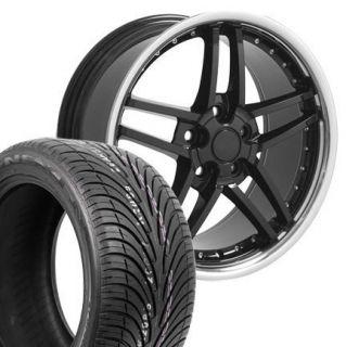 17x9 5 C6 Z06 Wheels Rims Tires Black Fits Camaro Vette