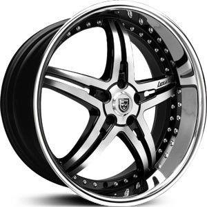 Lexani LX 15 Black SS Lip Wheel Rim 5x4 5 G37 I35 M35 M45 Q45