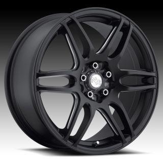 18 inch Niche NR6 Black Wheels Rims 5x105 40 Chevy Cruz