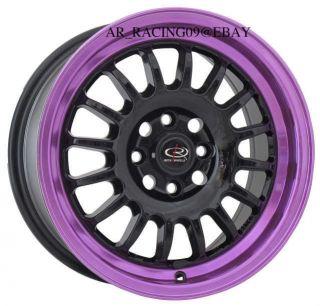 15 Rota Rims Track R Black Purple 4x100 40 Civic Integra Del Sol CRX