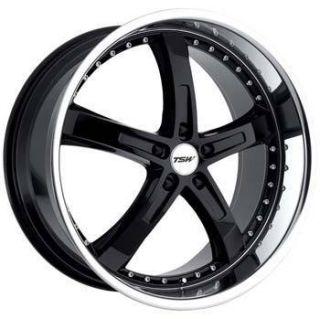 19x8 TSW Wheels Jarama 5x114 3 ET40 Black 4 New Rims