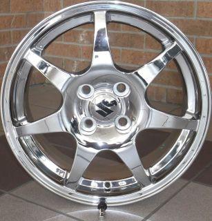 Suzuki SWT Aerio 15x6 Chrome Wheel Rim 4x100 with Center Cap Valve