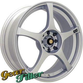 Enkei RS5 18x7 5x108 5x115 40 Silver Wheel Rim Incomplete Set