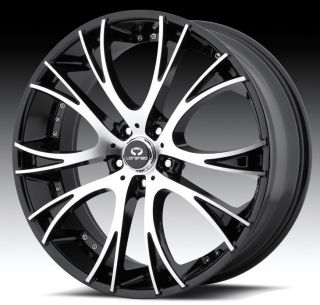 20 inch Lorenzo WL034 Black Wheels Rims 5x4 5 5x114 3 Diamante galant