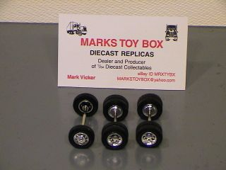 WHEELS: 1 FULL SET OF SPECCAST CHROME SEMI TRUCK TIRES 1/64 GREAT FOR