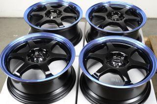 Black Rims Blue Tiburon Cobalt Aveo Elantra galant 4 Lug Wheels