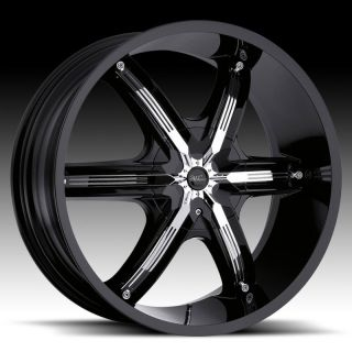 22Millani BELLAIR6 Black Wheels Chevy Trailblazer GMC