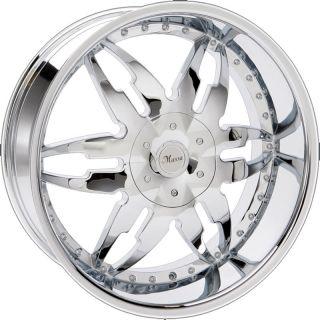 24 inch Chrome 45 Rims Tires Yukon Tahoe Avalanche H3