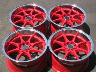 Civic   RED w/ ML Wheels TIRES Civic Fit CRX Acura Integra Miata RIMS