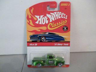 Hot Wheels Classics Series 3 6 30 Green 52 Chevy Truck