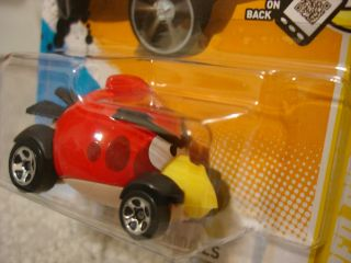 New 2012 Hot Wheels Red Angry Birds Ships in Clam Shell 47 50