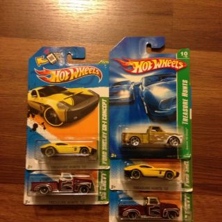 2012 Hot Wheels Treasure Hunt 52 Chevy Lot of 2 2011 Ford Ahelby Lot
