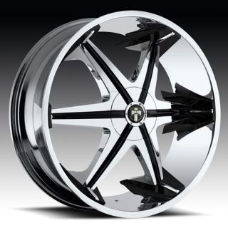 with Shooz Wheel Set Chrome Rims rwd 5 6 Lug 22inch Wheels