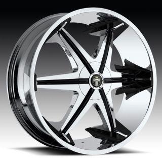 with Shooz Wheel Set Chrome Rims rwd 5 6 Lug 22inch Wheels