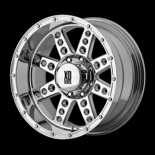 Diesel XD766 Chrome 20 X 10 8X6 5 Silverado Hummer H1 Ram Wheels Rims
